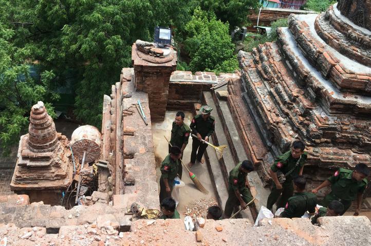 Comienzan labores de retiro de escombros en Myanmar