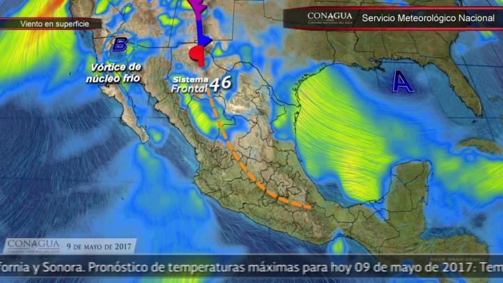 Pronóstico del tiempo para el 9 de mayo