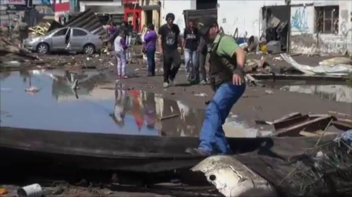Michelle Bachelet visita la ciudad portuaria de Coquimbo.