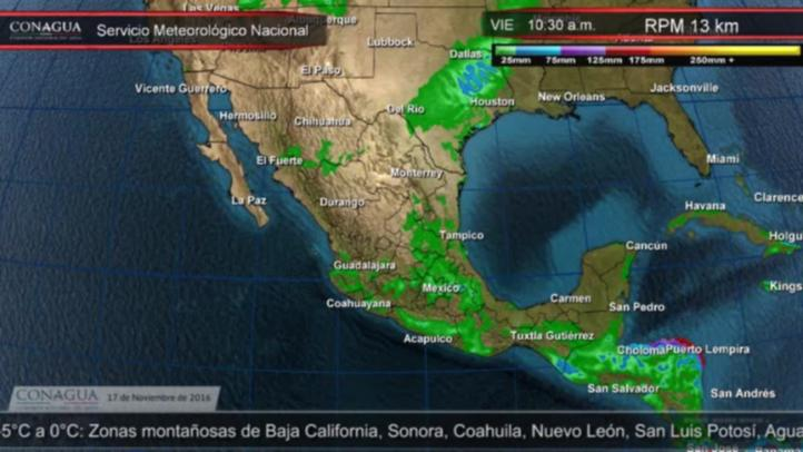 Pronóstico del tiempo para el 17 de noviembre