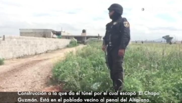 Construcción a la que daba el túnel por el cual escapó 'El Chapo' Guzmán