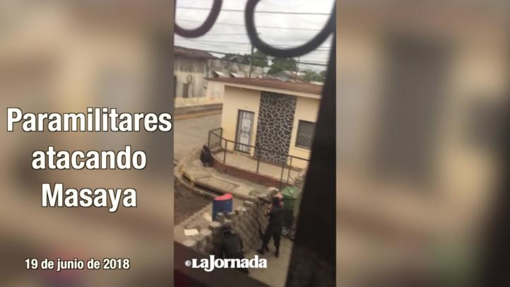 Paramilitares atacan Masaya
