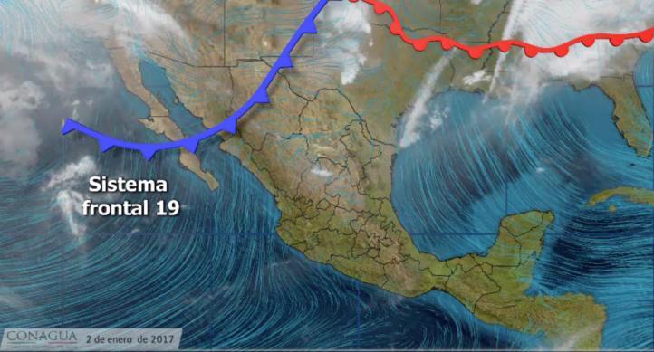 Pronóstico del tiempo para el 2 de enero