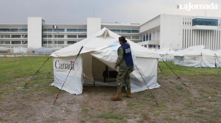 Campamento para personas con Covid-19 que se quieren aislar