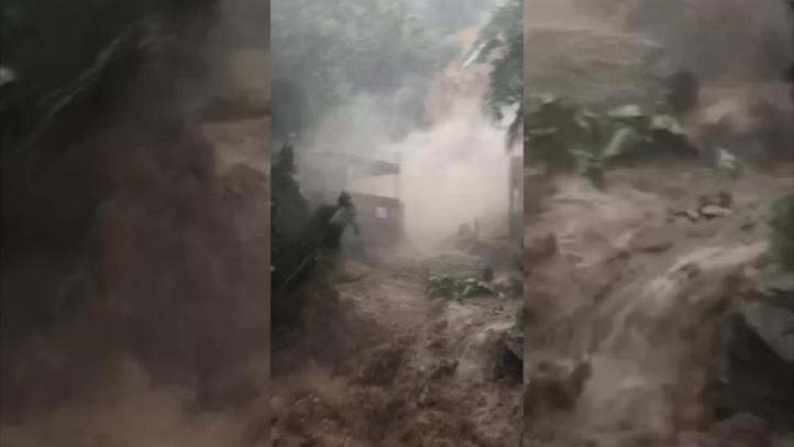 Se desborda la cascada de Yelapa