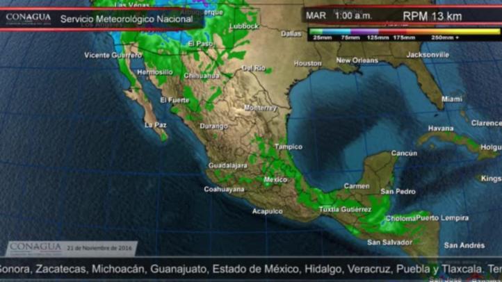 Pronóstico del tiempo para el 21 de noviembre