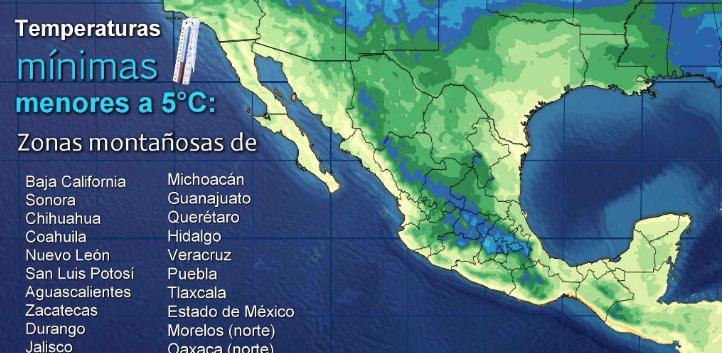 Pronóstico del tiempo para el 16 de noviembre
