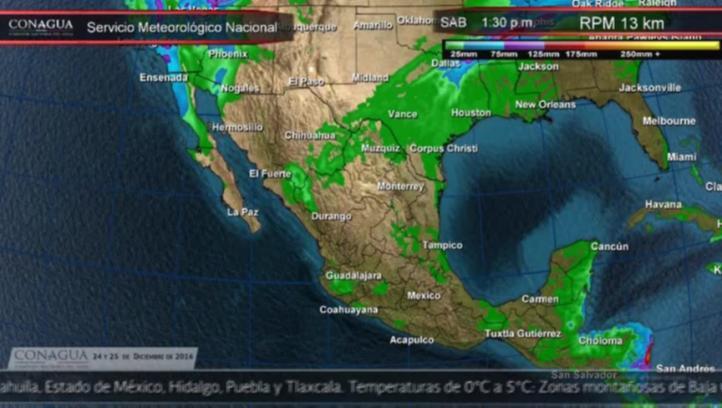 Pronóstico del tiempo para el 24 y 25 de diciembre