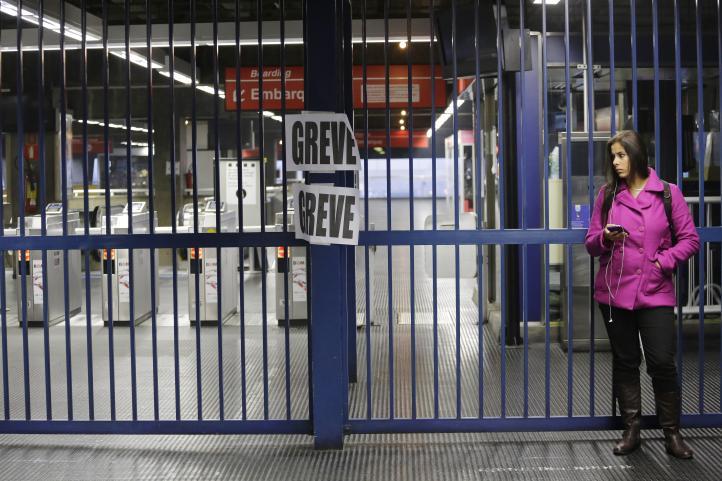 Caos en Sao Paulo por huelga de trenes a una semana del Mundial