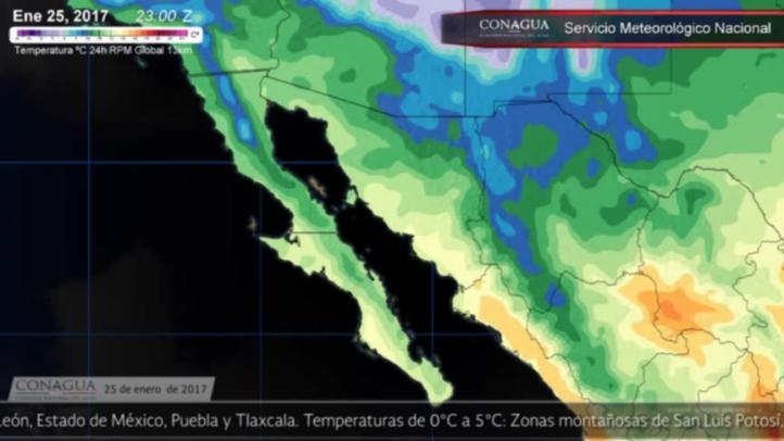 Pronóstico del tiempo para el 25 de enero