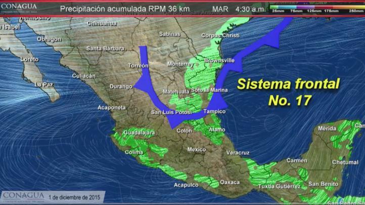 Pronóstico del tiempo para el  1º de diciembre