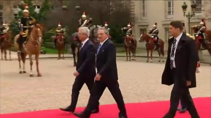 El presidente cubano continúa su visita de Estado en Francia