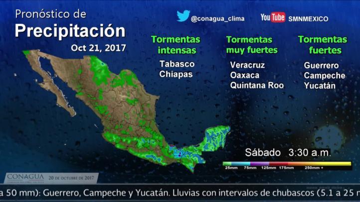 Pronóstico del tiempo para el 20 de octubre de 2017