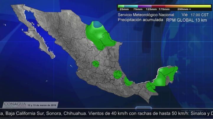 Pronóstico del tiempo para los días  12 y 13 de marzo