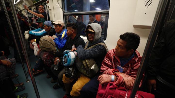 Se divide la caravana migrante; algunos grupos se adelantan