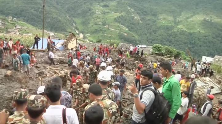 Derrumbe en Nepal