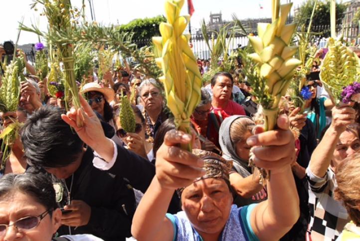 Celebración de Domingo de Ramos en la Catedral Metropolitana