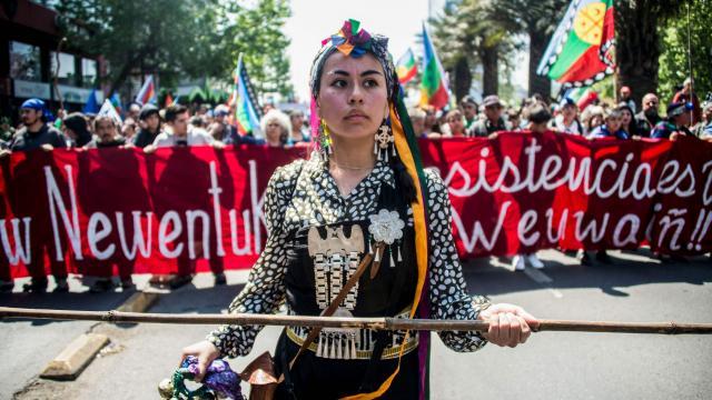 Marcha mapuche en Chile termina con incidentes aislados