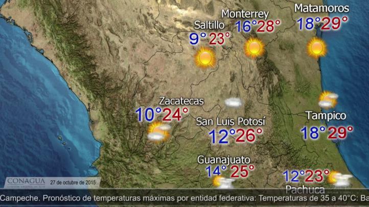 Pronóstico del tiempo para el 27 de octubre de 2015