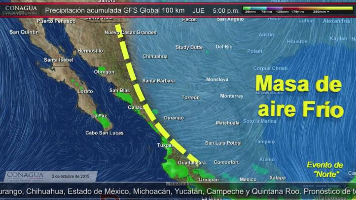 Pronóstico del Tiempo para el 2 de octubre