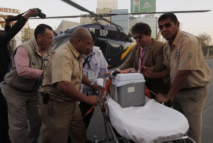 Hospital La Raza recibe órganos para trasplante