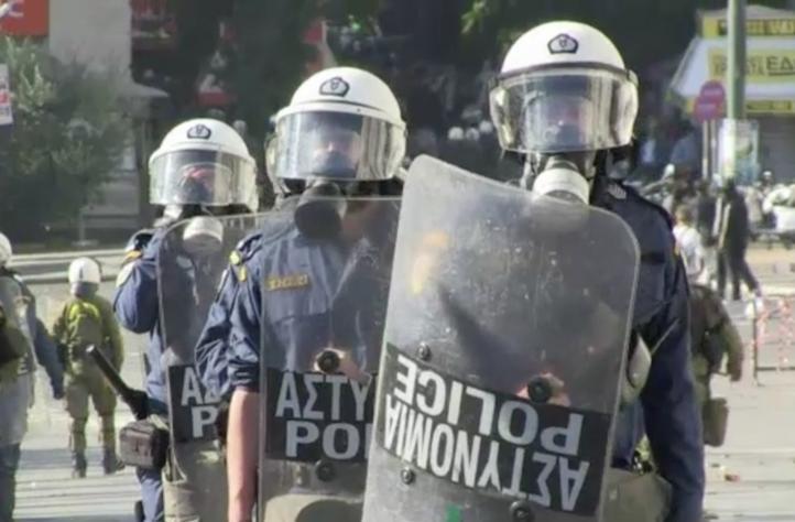 Choques durante la huelga general en Grecia