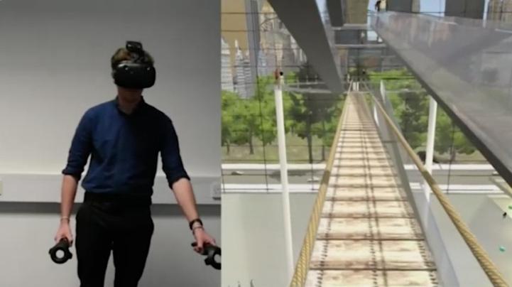Tratan con realidad virtual el miedo a las alturas