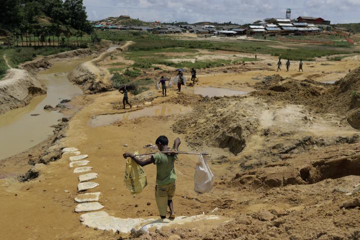 Sin un lugar al que huir, los rohinya esperan al monzón