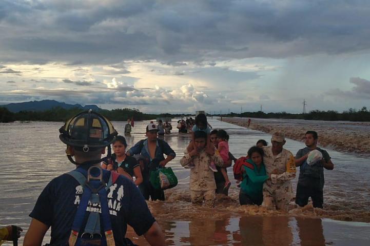 Plan DN-III en Sonora por tormenta tropical