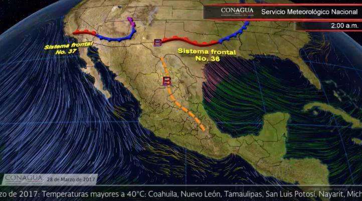 Pronóstico del tiempo para el 28 de marzo