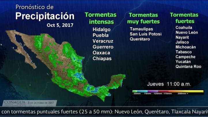 Pronóstico del tiempo para el 5 de octubre