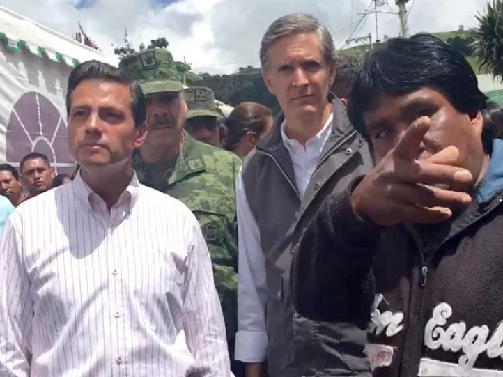 El presidente Enrique Peña visita municipio mexiquense