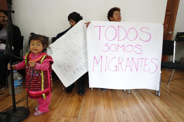 Reciben a caravana migrante en la Casa Refugio Citlaltépetl