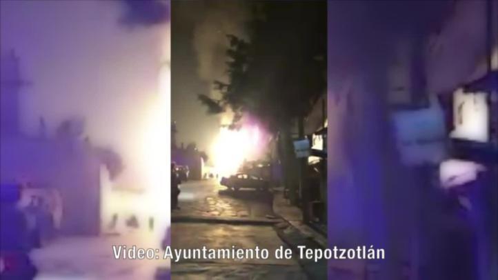 Desalojos por incendio de pipas de gas en Tepotzotlán
