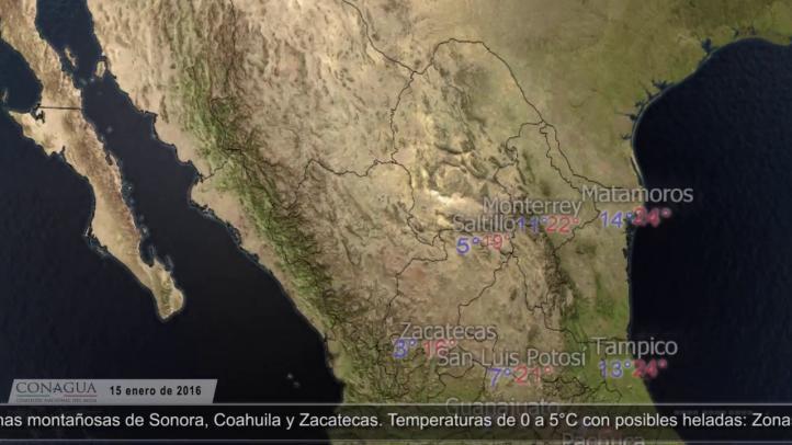 Pronóstico del tiempo para el 15 de enero