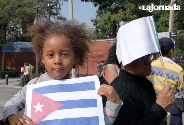 Emotivo homenaje a Fidel en México