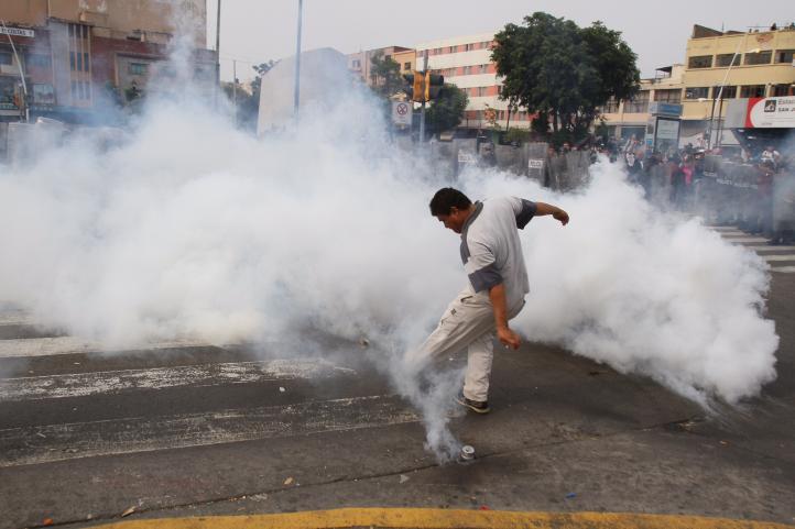 Dispersan en Guadalajara plantón de ambulantes