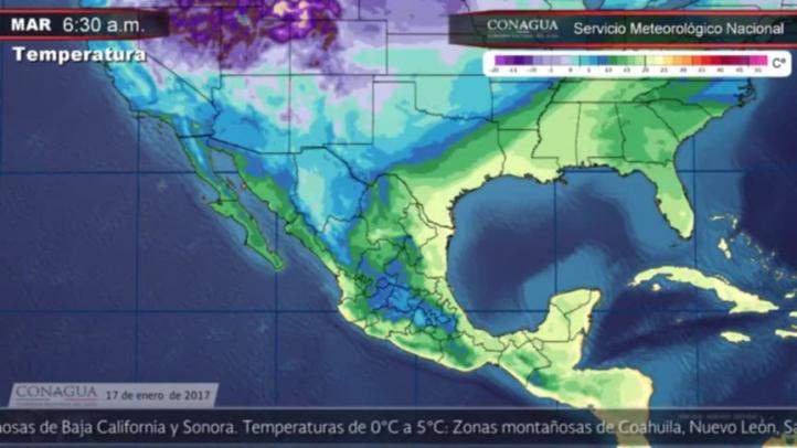 Pronóstico del tiempo para el 17 de enero