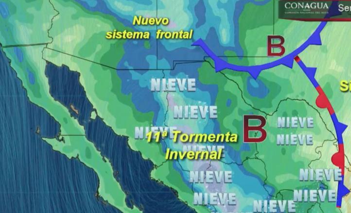 Pronóstico del tiempo para el 9 de Marzo