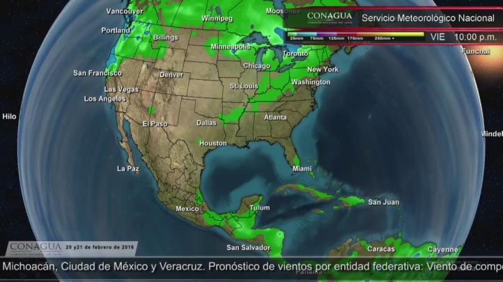 Pronóstico del tiempo para el 20 y 21 de febrero