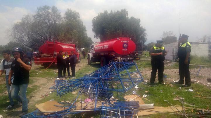 Un muerto y seis heridos por explosión en Tultepec