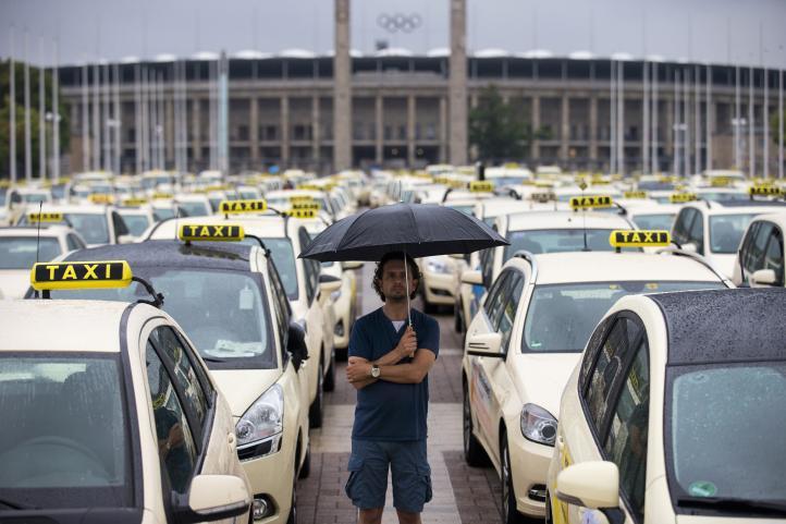 Protesta de taxistas en Europa