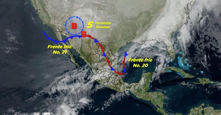 Pronóstico del tiempo para el 29 y 30 de diciembre de 2018