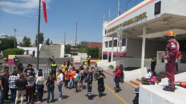 Prueban alerta sísmica en Nezahualcóyotl
