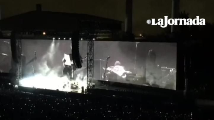 Roger Waters dirige mensaje a Peña Nieto durante concierto en Foro Sol