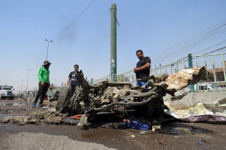 Mueren 12 personas en un ataque a un mercado de Bagdad