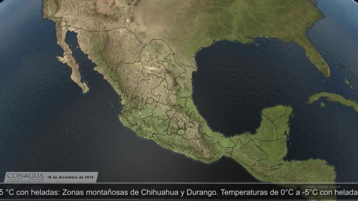 Frente frío 21 se extiende de EU a península de Yucatán