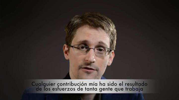 Edward Snowden agradece el premio Right Livelihood
