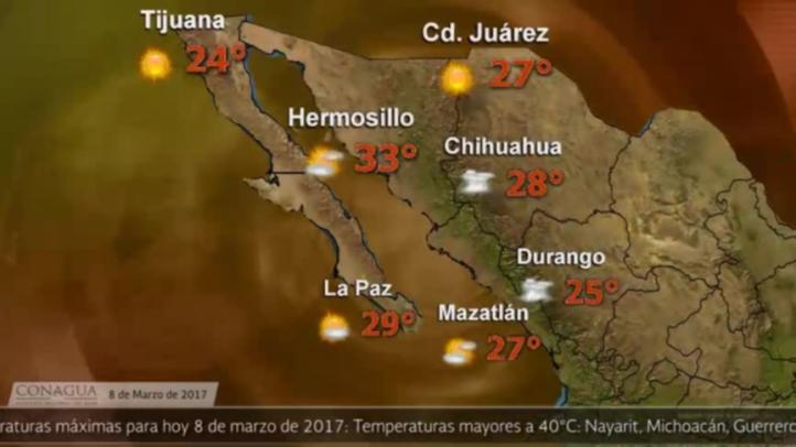 Pronóstico del tiempo para el 8 de marzo