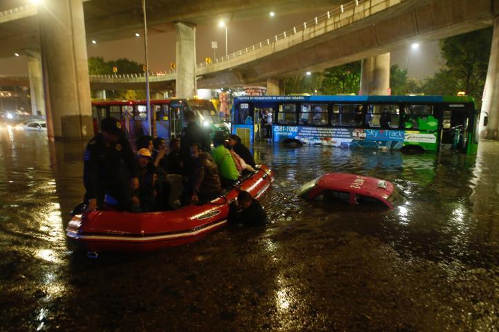 Inundaciones en el sur de la CDMX